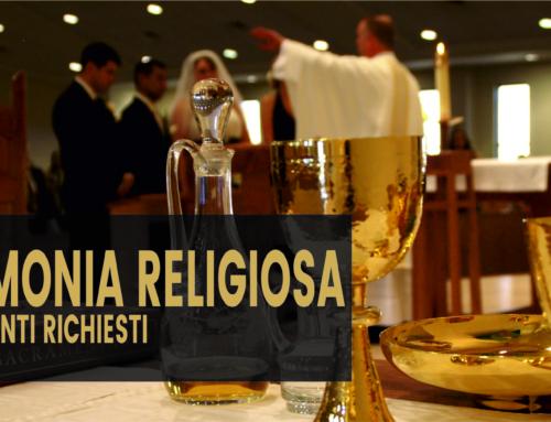 Cerimonia religiosa. I documenti richiesti